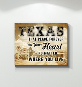 Texas Canvas Forever In Your Heart