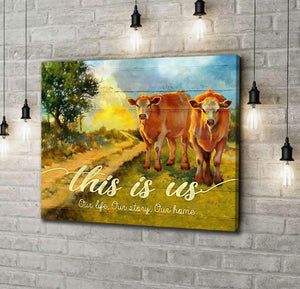 CANVAS - Cow - This is us (1 piece) - yenyenstore