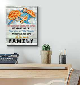Turtle Canvas We Love, We Laugh, We Are Family