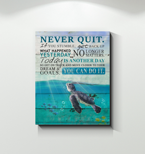 Canvas - Turtle - Never Quit