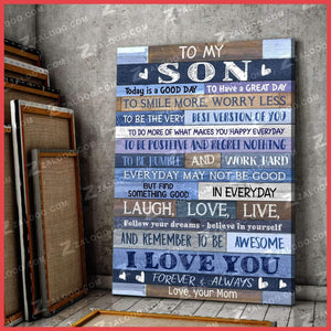 CANVAS - To my Son (Mom) - Today is a good day - yenyenstore