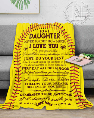 Hayooo Blanket Softball Remember to be awesome (Mom)