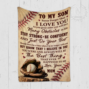 Hayooo Blanket Baseball To my son The best thing