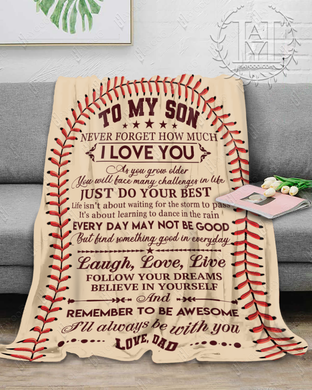 Hayooo Blanket Baseball Remember to be awesome