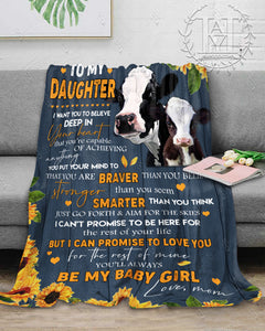Hayooo Blanket Cow To My Daughter You'Ll Always Be My Baby Girl