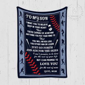 Hayooo Blanket Baseball To my son Love you for the rest of mine
