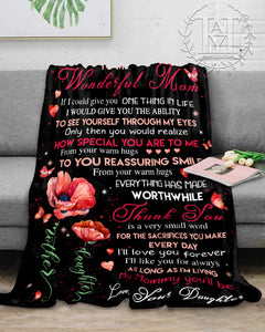 Hayooo Blanket To my wonderful Mom Thank you is very small word