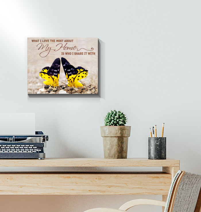Canvas Butterfly What I Love The Most