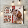Canvas Golden Retriever I'Ll Be There