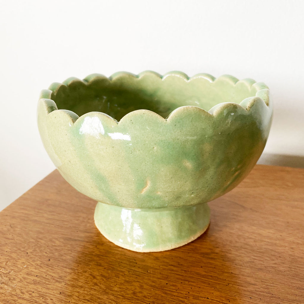 OOPS! Green Scalloped Planter
