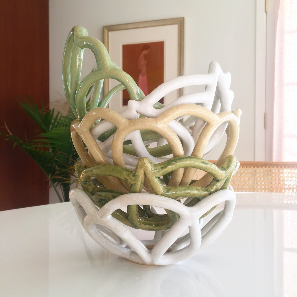"Basket Bowl ""Somersault"" - Light Green"