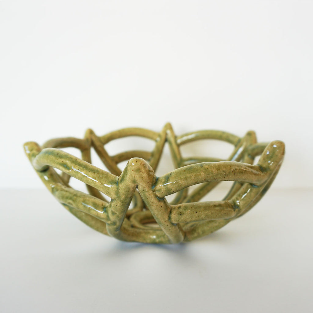 handmade basket bowl