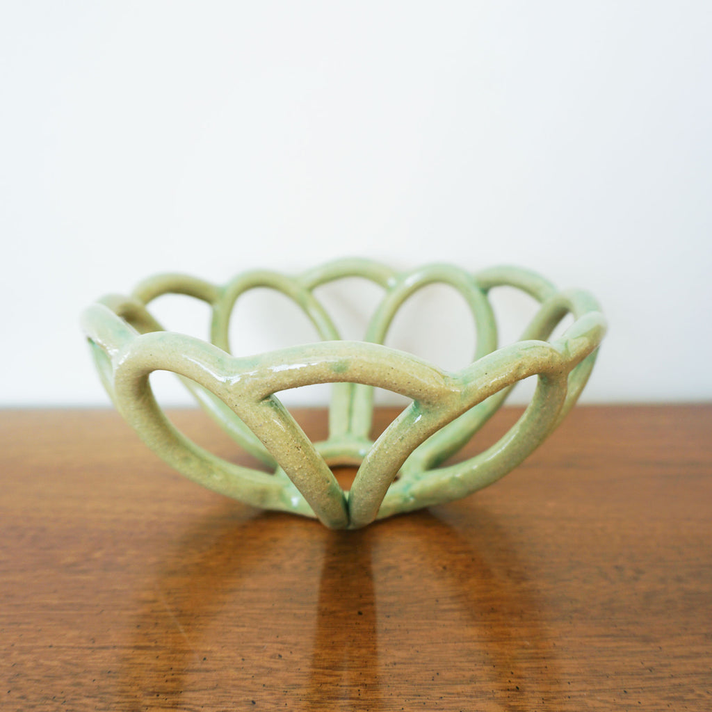 mint green basket bowl