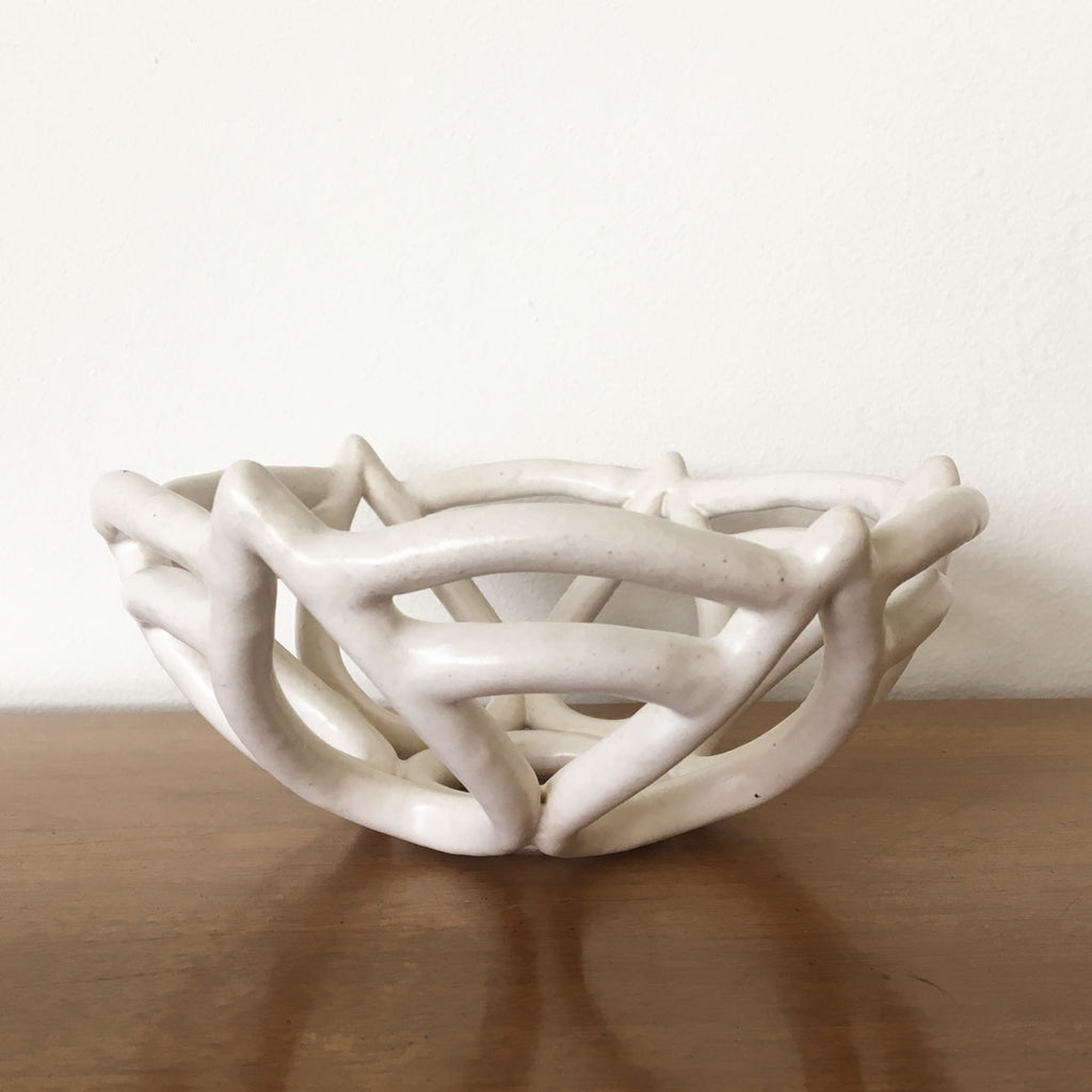"Basket Bowl ""Aerial"" - White"