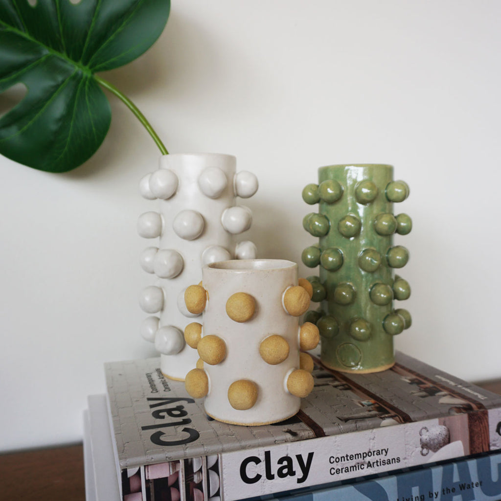 handmade bobble vases by Salto