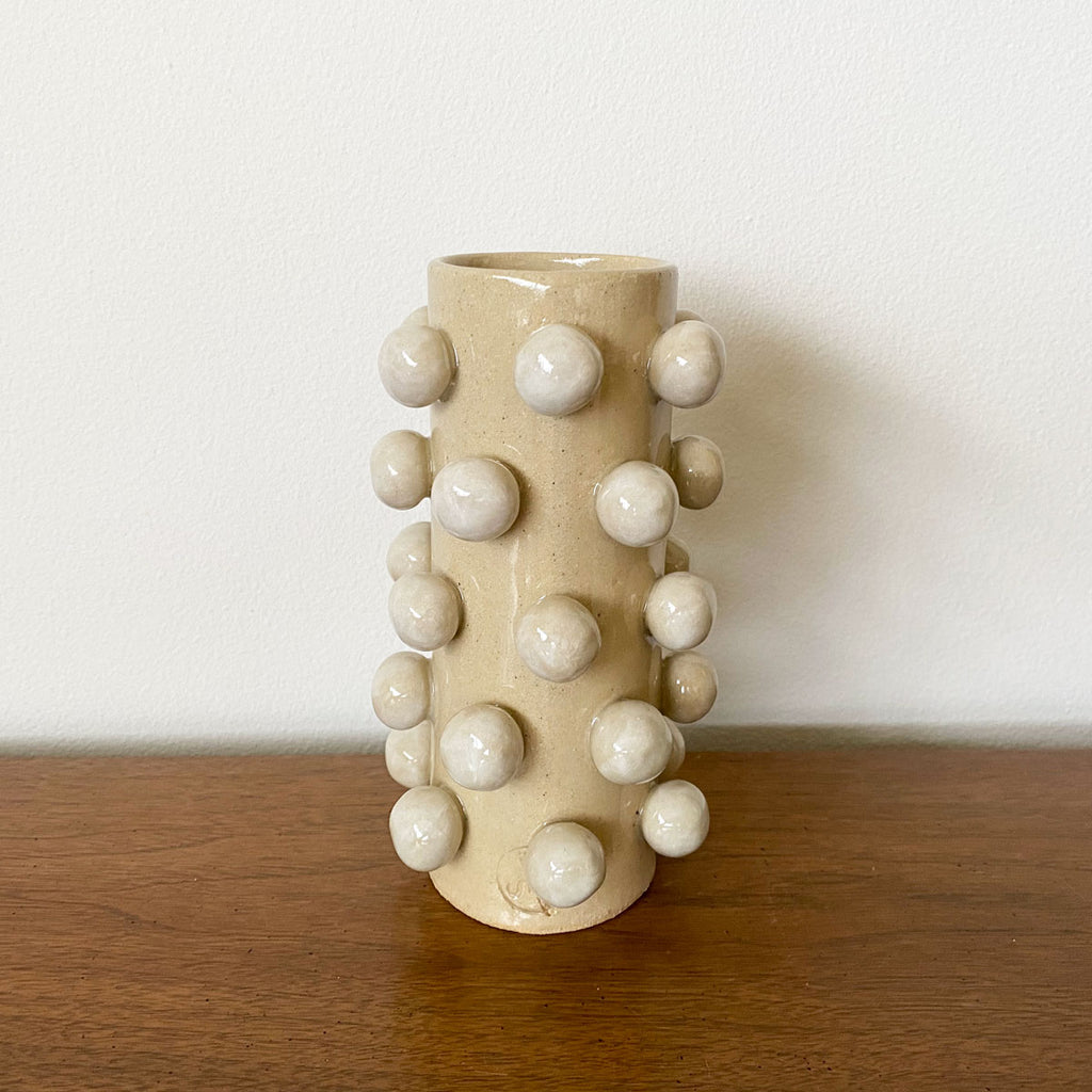 Bobble Vase - Cream on Natural