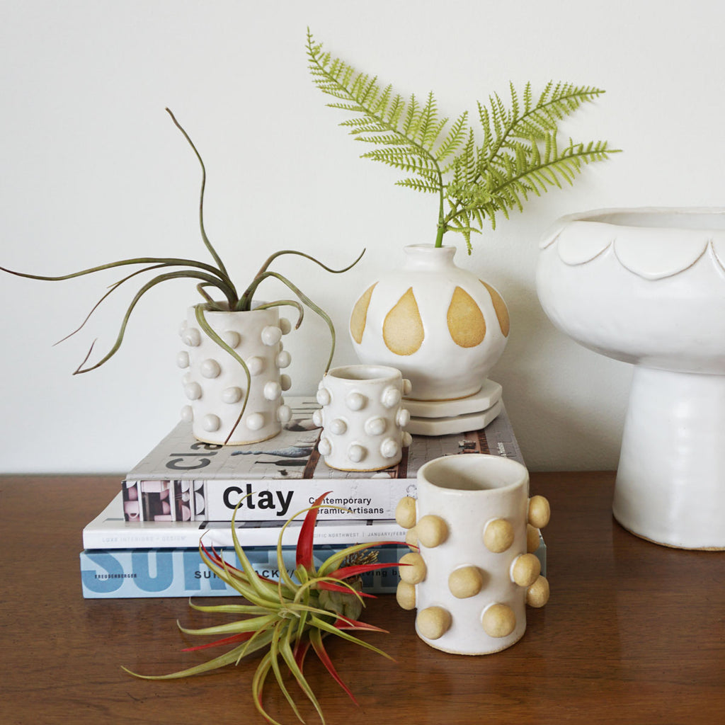Bobble Bud Vase - White