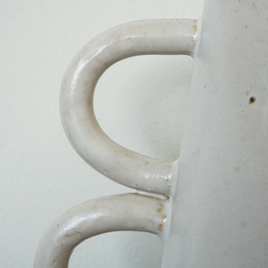 handmade triple loops vase detail