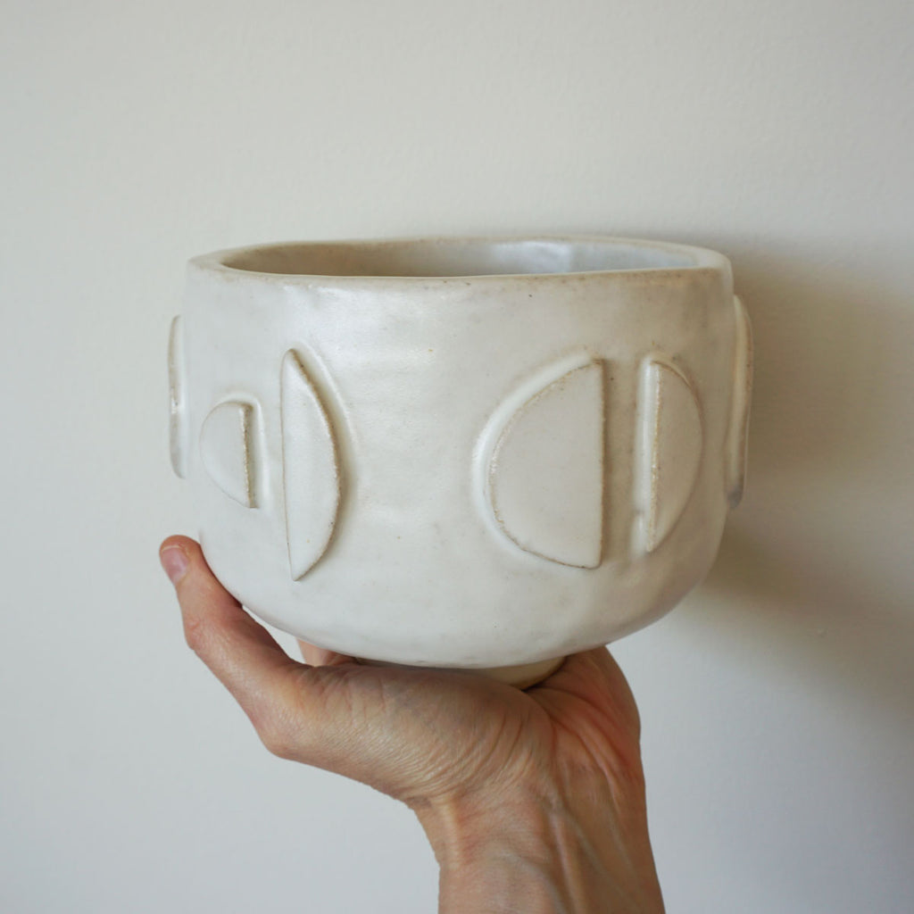 handmade moon shapes planter