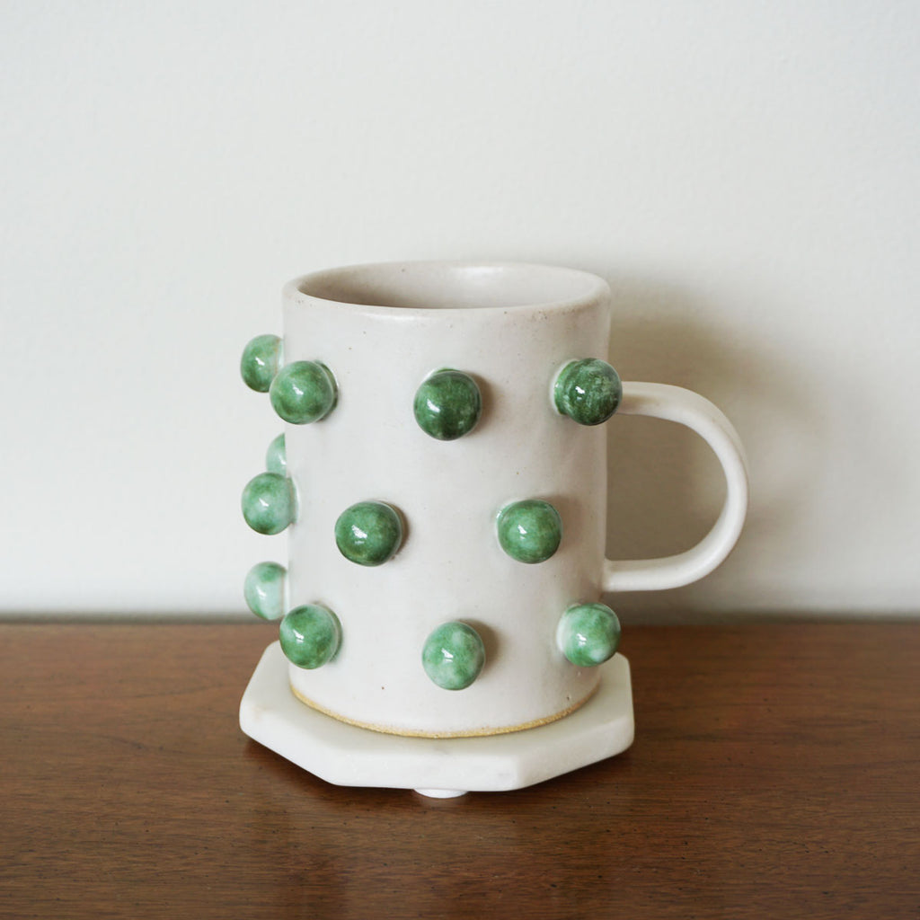 Bobble Mug - Green on White