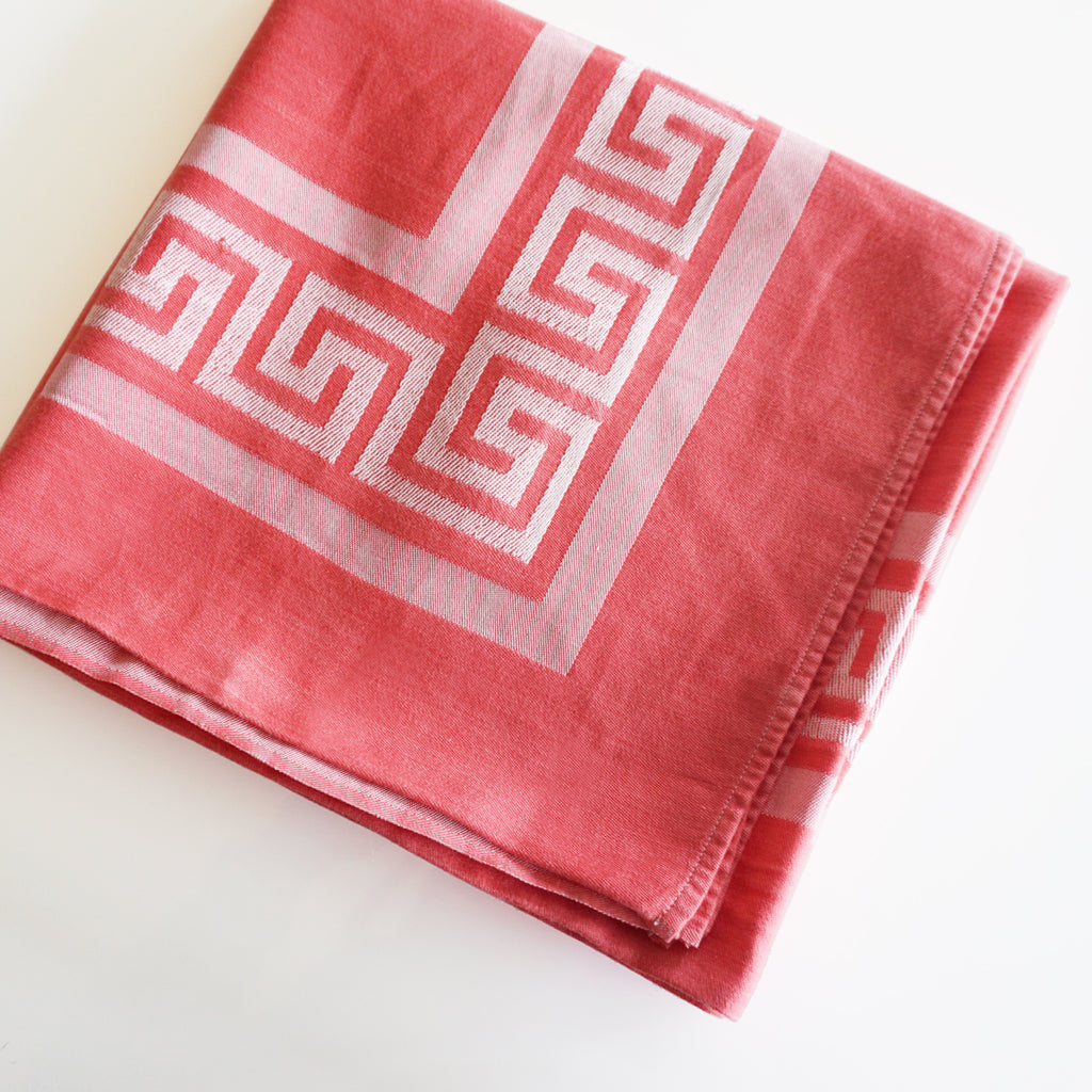 vintage greek key tablecloth