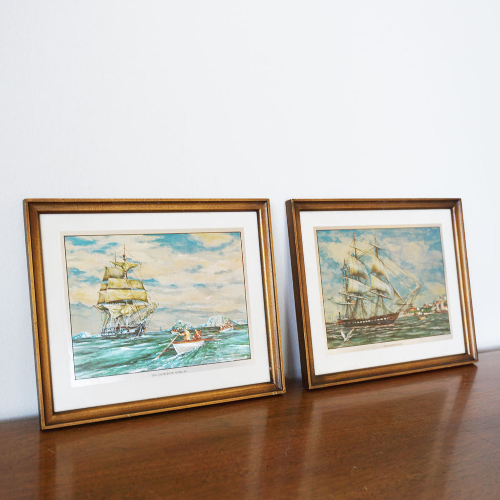 vintage ship etchings