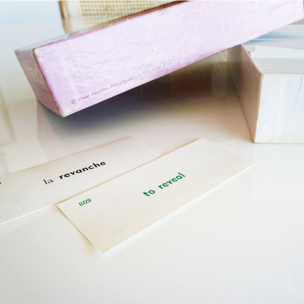 vintage french flashcards