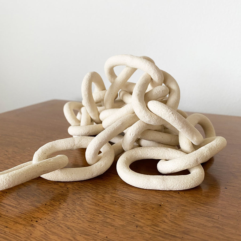Small Porcelain Chain - White