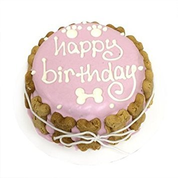 """Happy Birthday"" Dog Cake (Pink)"