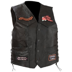 Rock Leather Ladies Vest - 2X