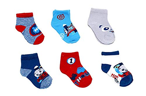 Thomas the Train & Friends Boys 6 pack Socks (Baby/Toddler) (Blue/Red, 12-18 Months)