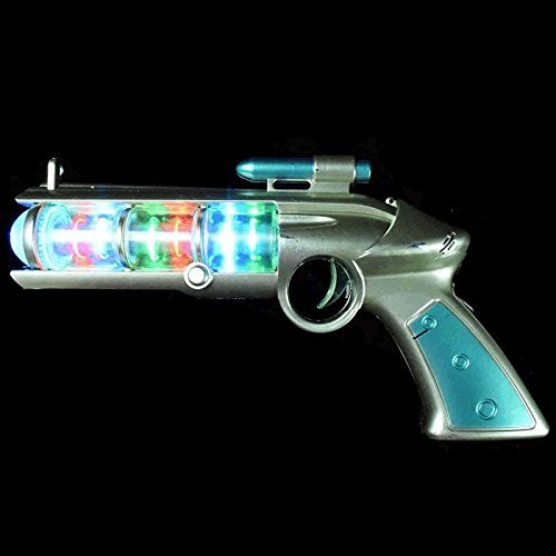 blinkee Light Up Spinning Barrel Space Gun by