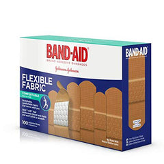 BAND-AID Flexible Fabric Adhesive Bandages Assorted 100 ea (Pack of 4)