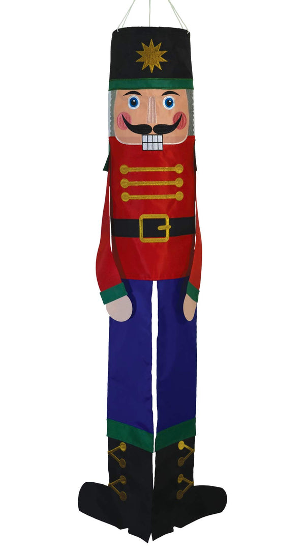 In the Breeze 5061 Nutcracker Buddy Windsock-Hanging Christmas Decoration, 40 Inches, 40""