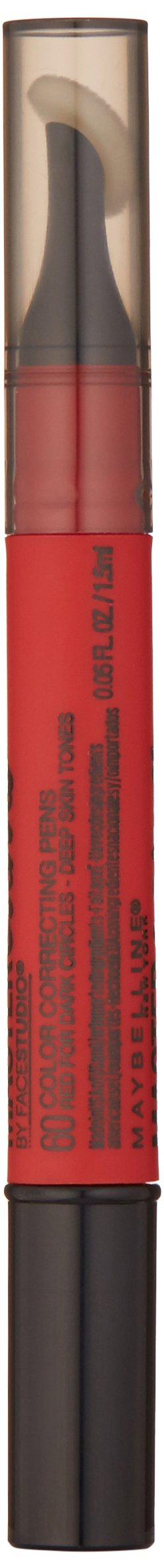 Maybelline New York Master Camo Color Correcting Pen, Red For Dark Circles, deep, 0.05 fl. oz.