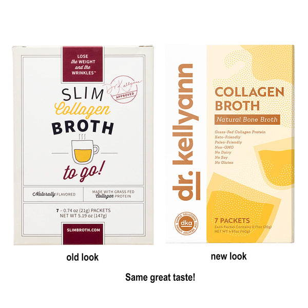 Bone Broth Collagen Powder Packets by Dr. Kellyann - 100% Grass-Fed Hydrolyzed Collagen - Perfect Supplement for Keto, Paleo & Weight Loss Diets (7 Servings, 1 Box)