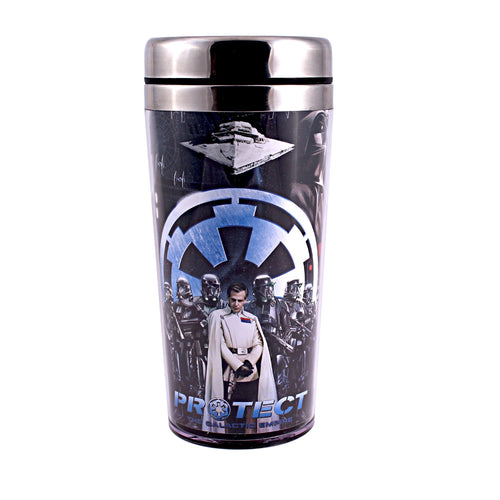 Silver Buffalo SY0487ST Star Wars Rogue One Protect Stainless Steel Travel Mug, 16-Ounces