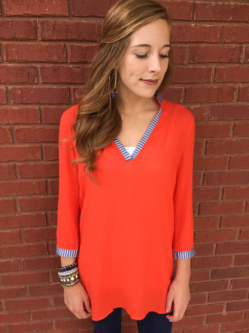 Look At The Bright Side Tunic - Orange