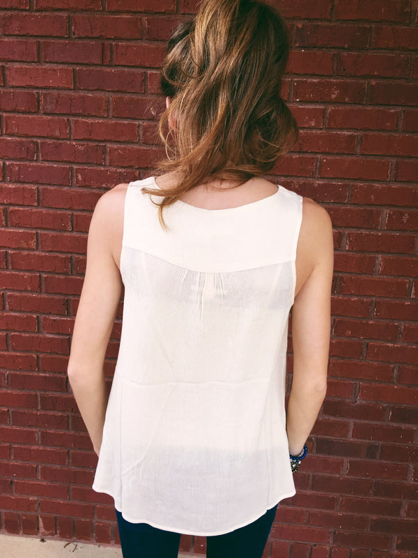 All Details Tank - Cream