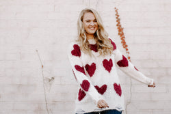 Lou Lou Heart Sweater - Ivory