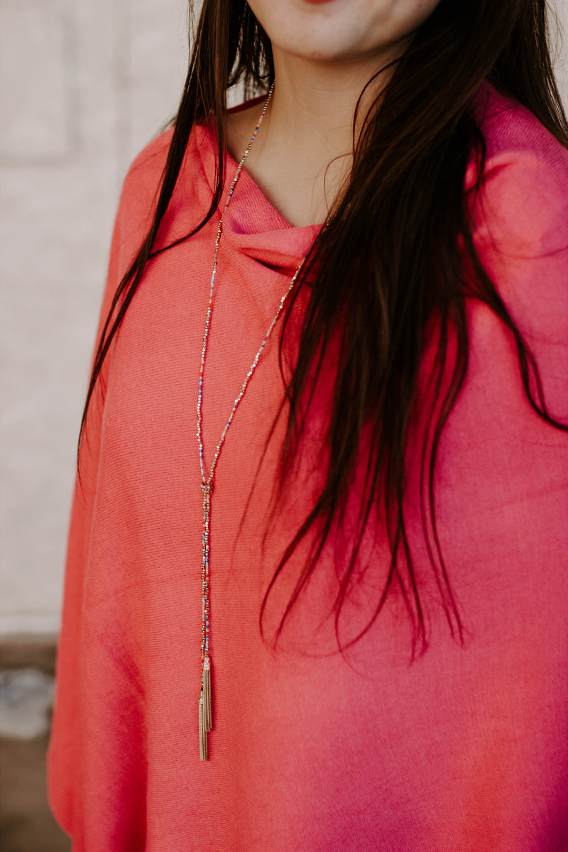 Emin Lariat Necklace - Multi