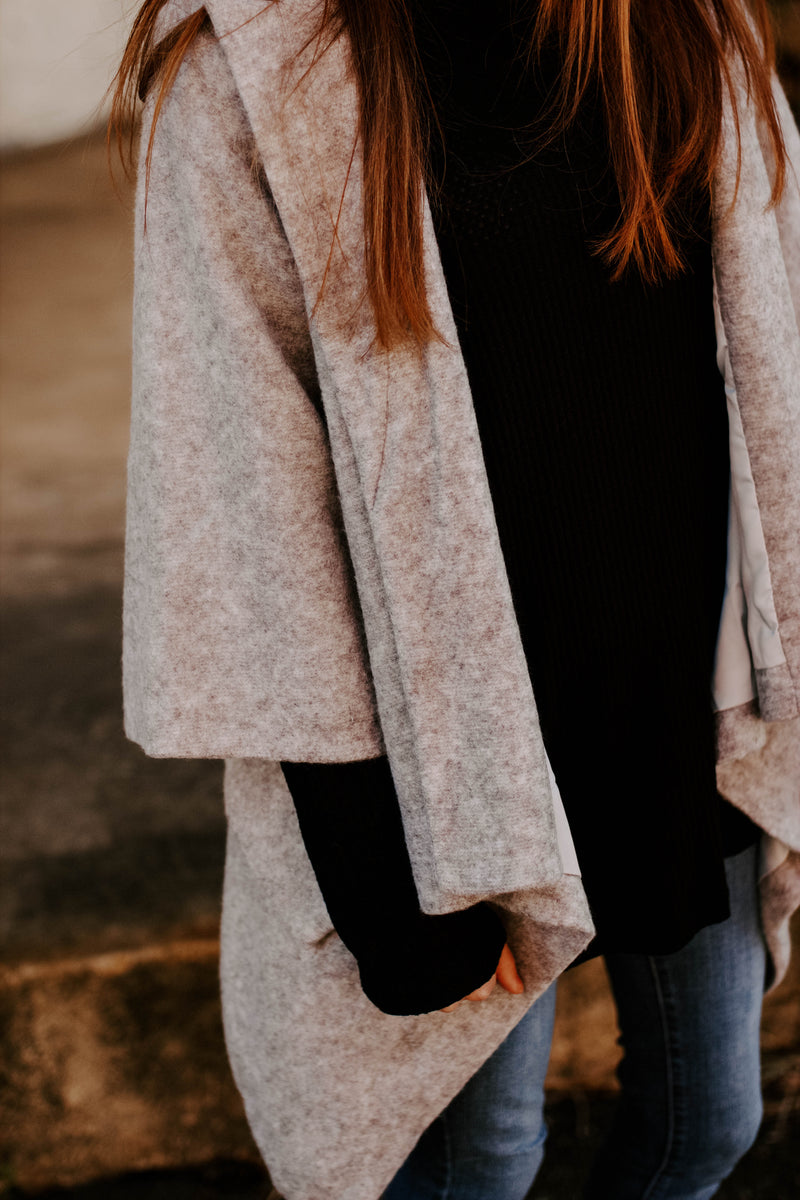 Noticed By All Coat - Heather Grey