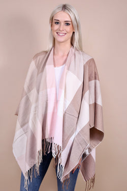 Parker Plaid Wrap - Blush