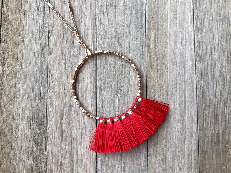 It's Game Day Necklace - Red