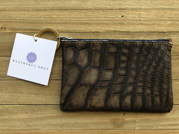 Alligator Skin Mini Wallet