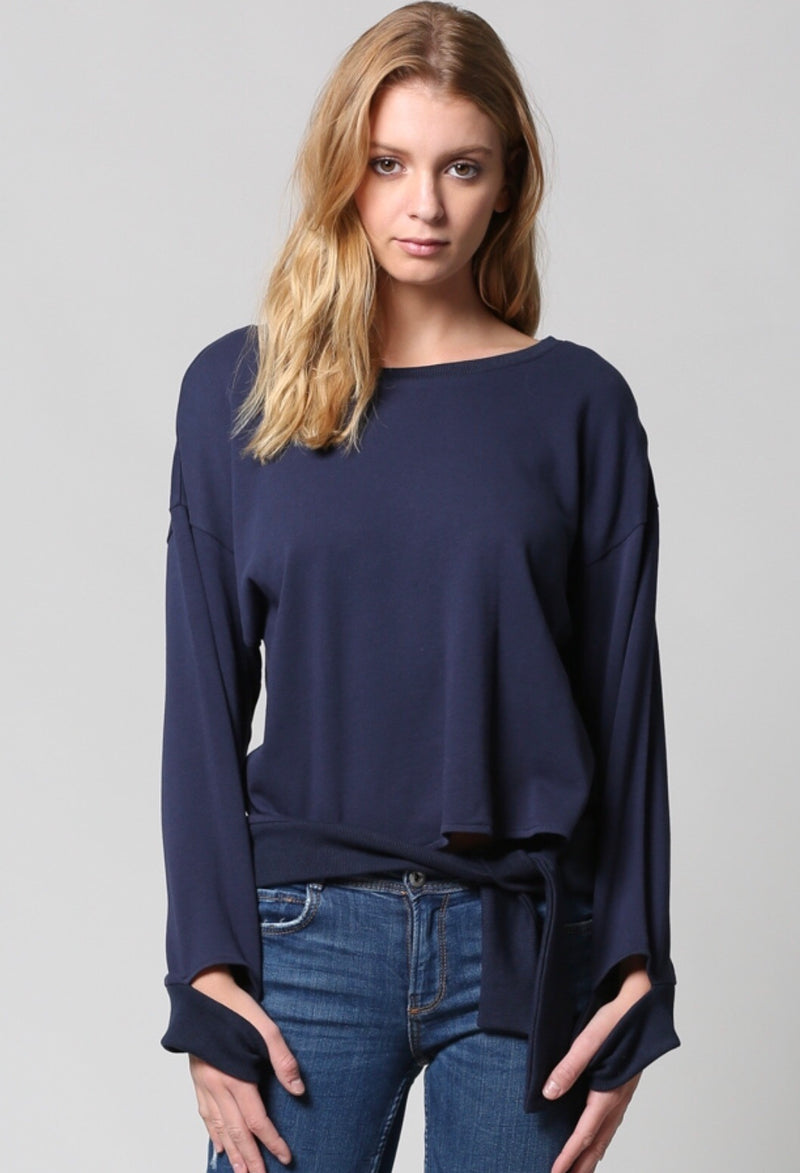 French Terry Top - Navy