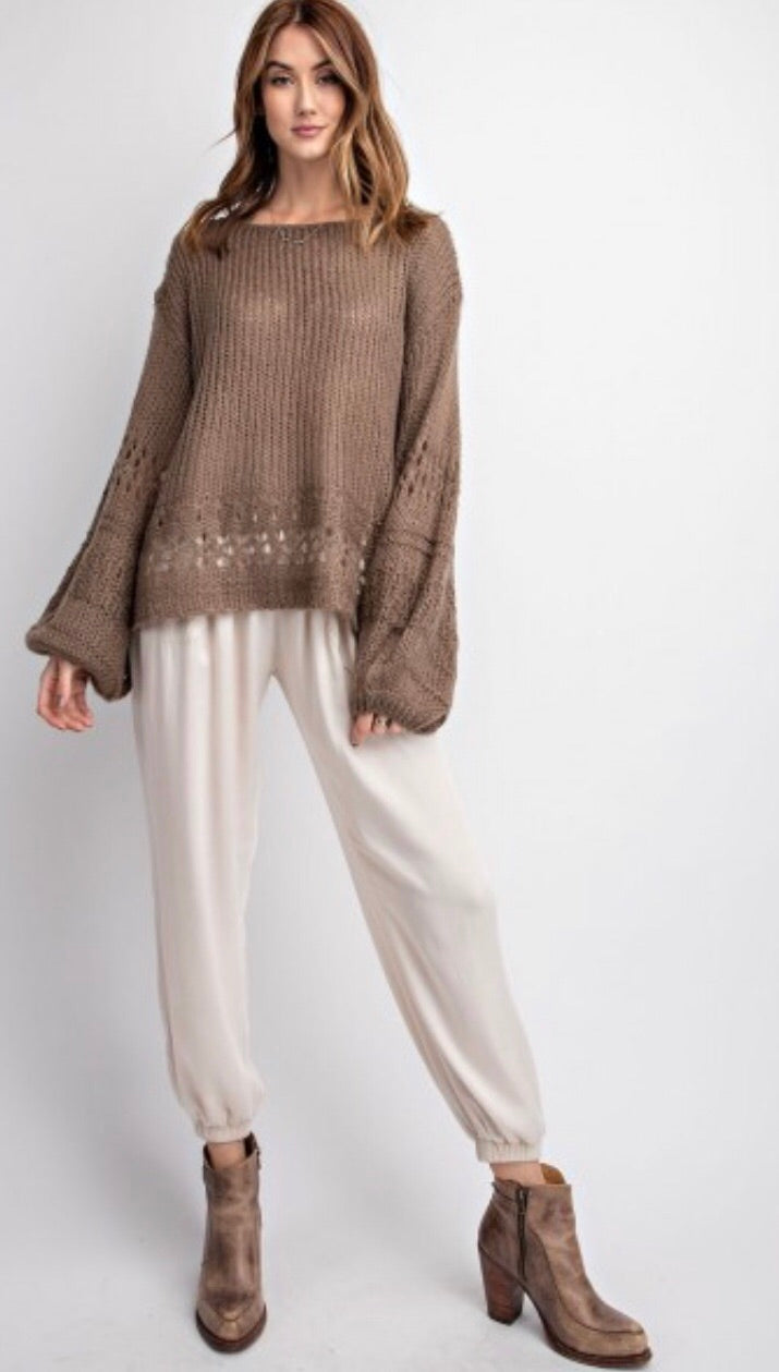 Mocha Time Sweater