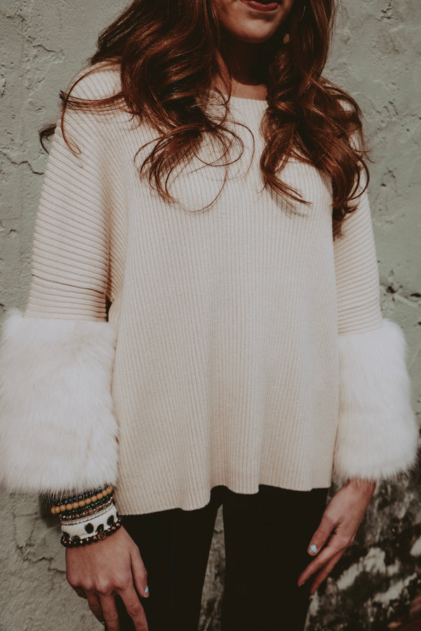 Anything But Basic Sweater - Cream