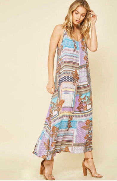 Sweet As Summertime Maxi Dress - Purple
