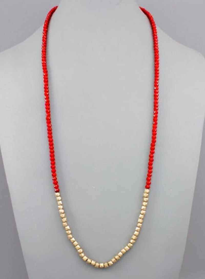 Between The Hedges Necklace - Red